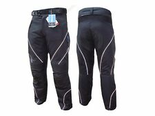 Mens Motorcycle Riding Pants with Protective Armor Pads in Black