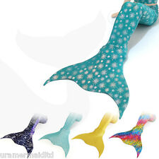 Adult Mermaid Tail With Monofin Costume Fancy Dress S Sea Tail Maid Girl Swim UK