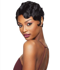 NEW FASHION 100% REMY HUMAN HAIR FULL WIG SHORT WAVY STYLE LACE WIG