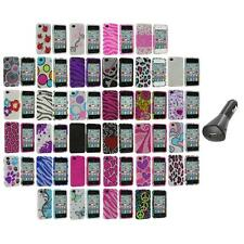 Color Bling Rhinestone Diamond Hard Case Accessory+Car Charger for iPhone 4S 4G