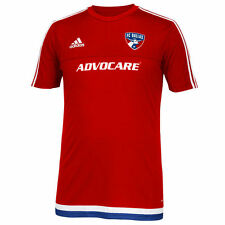 adidas FC Dallas MLS 2014 - 2015 Soccer Training Pre-Game Jersey Red / Royal