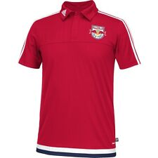 adidas New York Red Bulls 2015 MLS Official Soccer Club Travel Polo Red