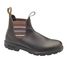 Blundstone 1409 stout brown coloured striped elastic sided boots