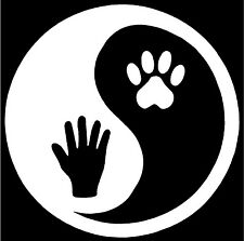YING AND YANG PAW - Decal / Sticker