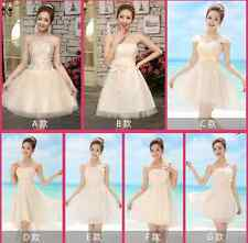 Sexy Short Mini Women Bridesmaid Dress Evening Cocktail Party Prom Ball Gown New