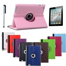 iPad Air 2 Case iPad 6 360 Rotating Flip Stand PU Leather Case Cover for Apple