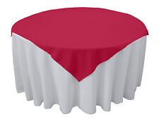 Tablecloth Overlay Square Seamless 72 Inch By Broward Linens (Variety Colors)