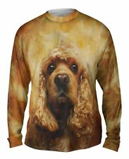 Yizzam- American Cocker Spaniel Face - New Mens Long Sleeve Tee Shirt XS S M L