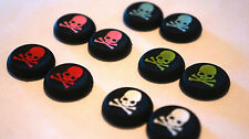 PS4 PS3 XBOX 360 Analog Controller Joystick ThumbStick Grips Cap Covers SKULL