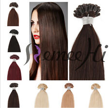 Remy Human Pre Bonded Nail U Tip Keratin Fusion Hair Extensions Multiple Colors