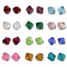 50pcs 5328 4mm Swarovski Xilion Crystal Element Bicone Beads CHOOSE YOUR COLORS