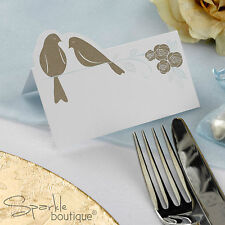 VINTAGE-STYLE WEDDING PLACE CARDS -Gold Doves/Bird Design- FULL RANGE IN SHOP