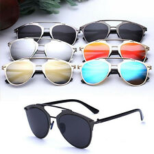 Fashion Mirrored Lenses Sunglasses Vintage Cat Eye Unisex UV400 Goggles Eyewear