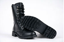 Womens Ladies Combat Style Army Worker Military Ankle Boots Flat Punk Goth Shoes