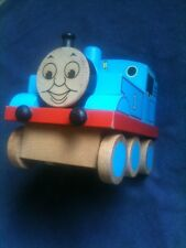 "Large 6"" Wooden Thomas The Tank Engine Figure Toy Gullane Limited 2007"