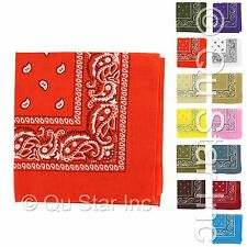 Lot of 12Pcs Unisex Classic Paisley Pattern Head Wrap Wristband Scarf Bandana