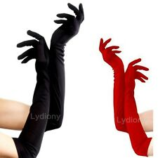 Long BLACK Glove Opera Wedding Bridal Evening Party Prom Costume Glove Cosplay