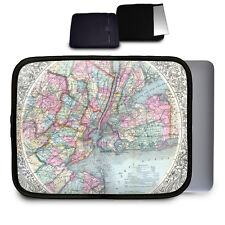 Antique New York City Map Neoprene Case for Any Tablet Netbook Macbook Air - Sle