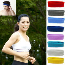Hot Unisex Cool Sports Sweat sweatband Headband Yoga Gym Stretch Head Hair Band