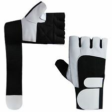Weight Lifting Gloves Gym Training Exercise Body Building Gloves Long Straps