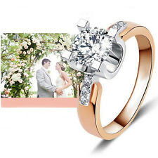 18K Gold Plated Wedding Engagement Ring for Women Zirconia Jewelry Luxury