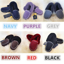 Genuine Australian Sheepskin/Lambskin Ugg Moccasins Slippers Mens/Womens/Ladies