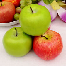 1*/5* Large Cute Apples Decorative Plastic Artificial Fruit Imitation Fake 10cm
