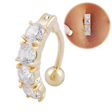 NEW Crystal Dangle Navel Belly Button Ring Bar Body Piercing Jewelry Barbell