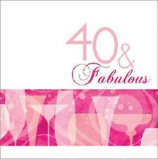 """""""40TH BIRTHDAY CELEBRATIONS""""   Pack of 16 -  40 & Fabulous Party Napkins!"""