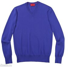 NWT HUGO (Red Label) by Hugo Boss V-Neck Wool Sweater in Purple (Indigo)
