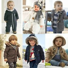 Baby Kid Boy Girl WINTER WARM Snowsuits Outerwear Jacket Coat Clothes Size 0-4