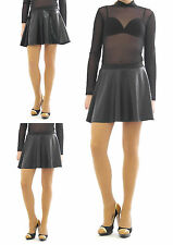 Swing Rock Mini Gloss Matt Lacquer Faux Leather Look Elastic Band Mini Skirt