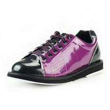 NEW WOMENS PRANCER BOWLING SHOES DK/PURPLE ALL SIZES IN STOCK + FREE SHOE COVERS
