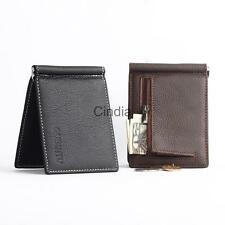 Luxury Mens Pu Leather Thin Wallet Money Clip Credit Card Holder Coin Purse
