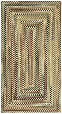 """Capel Rugs """"Bangor"""" Concentric Wool Country Cottage Braided Rug Amber Gold #100"""