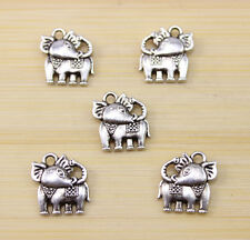 30/60/100 PCS wholesale:Very cute Tibet silver baby elephant Charm pendant