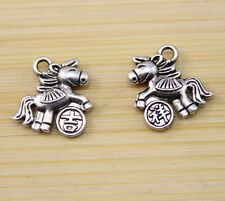30/60/100 PCS wholesale:Very beautiful Tibet silver Lucky horse Charm pendant