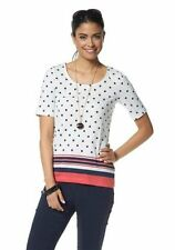 Ladies Chillytime Top Tunic Blouse Top T-Shirt Dots Stripes Cotton 632764