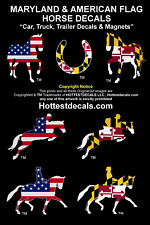 MARYLAND HORSE DECAL Car Sticker MAGNET JUMPING TROTTING DRESSAGE American