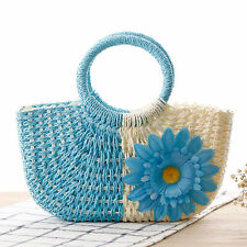 2016 Summer New Fashion Women Small Sunflower Straw Bag Beach Tote Bag Handbag