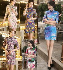 Hot Chinese women's Charming mini dress evening dress Cheongsam Qipao size S-XXL