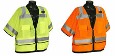 SV59-3 Class 3 Heavy Duty Surveyor Safety Vest ANSI/ISEA 107-2010 Construction