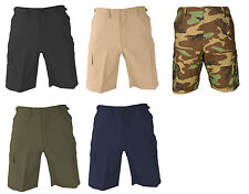 PROPPER MILITARY TACTICAL BDU SHORTS 100% COTTON RIPSTOP- BLACK CAMO OD ETC