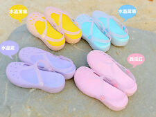 Summer Jelly Color HoleWomen Girl Sandals Platforms Garden Shoes Beach Sandals