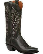 Lucchese M5001 74 Womens Anthracite Madras Goat Leather Western Cowboy Boots
