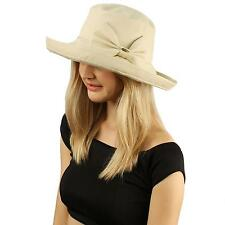 Foldable Compact Cotton Bow Derby Crusher Bucket Beach Pool Sun Travel Hat