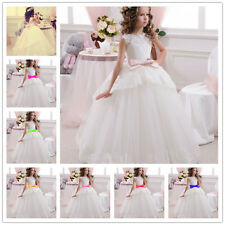 Snow white Wedding Formal Flower Girls Dress Pageant fluffy dress popular-G