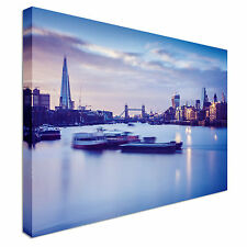 River Thames At Sunset Canvas Wall Art prints high quality