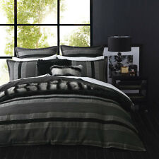 Ultima Logan and Mason Carter Graphite Duvet Doona Quilt Cover Set 3 Sizes