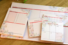 Monthly Weekly Daily Journal Schedule Planner NotePad Organizer Check List #JP